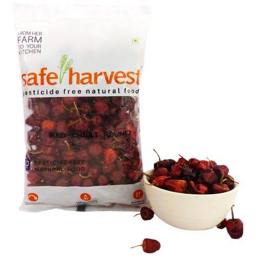 Safe Harvest Red Chilli - Round, Pesticide Free, 200 g