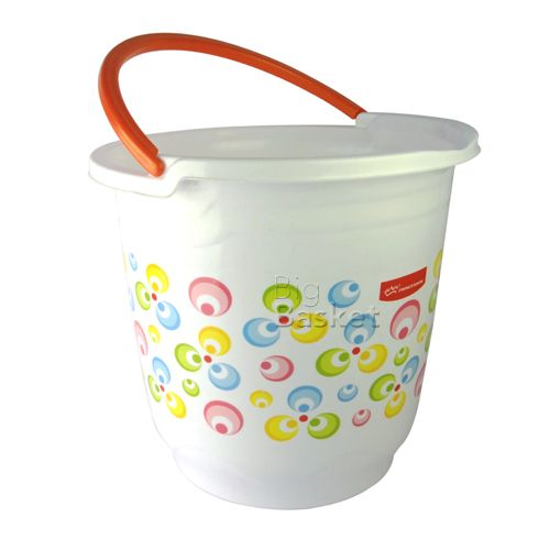 Princeware Frosty Wave Bucket Printed, Assorted Color, 25 ltr