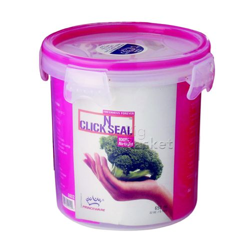 Princeware Click N Seal Canister Microwaveable Plastic Container - L5903-VL, 1.34 lt