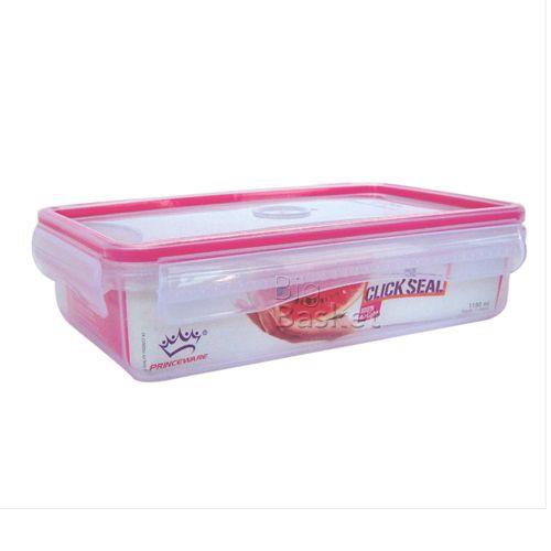 Princeware Click-N-Seal Container - Rectangular, 890 ml