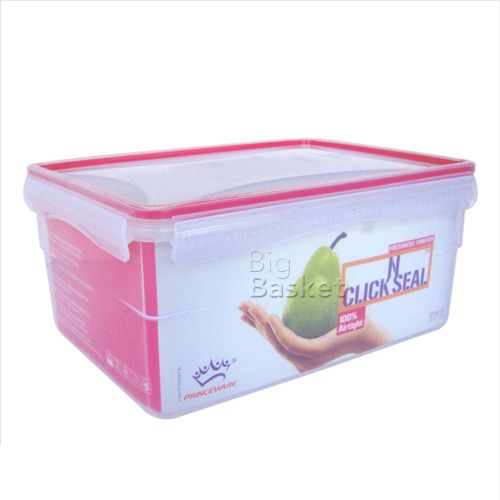 Princeware Click-N-Seal Container - Rectangular, 3.75 ltr