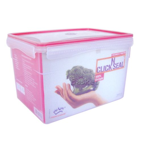 Princeware Click-N-Seal Container - Rectangular, 5.425 ltr