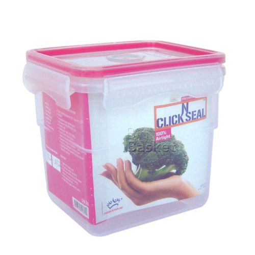 Princeware Click N Seal Tall Microwaveable Plastic Container - L5928-VL, 970 ml