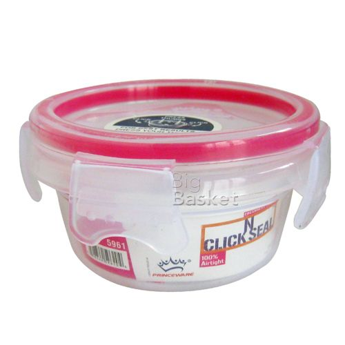 Princeware Click N Seal Round Packing Microwaveable Plastic Container - L5961-VL, 110 ml