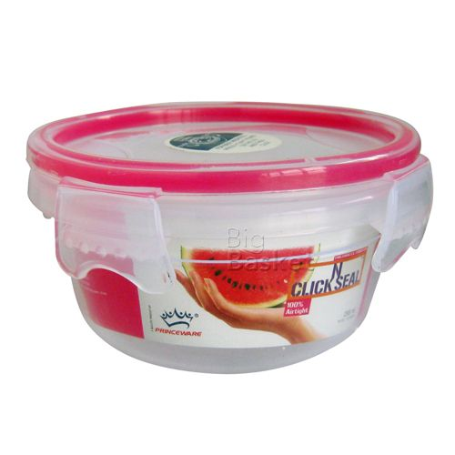 Princeware Click N Seal Round Packing Microwaveable Plastic Container - L5962-VL, 295 ml