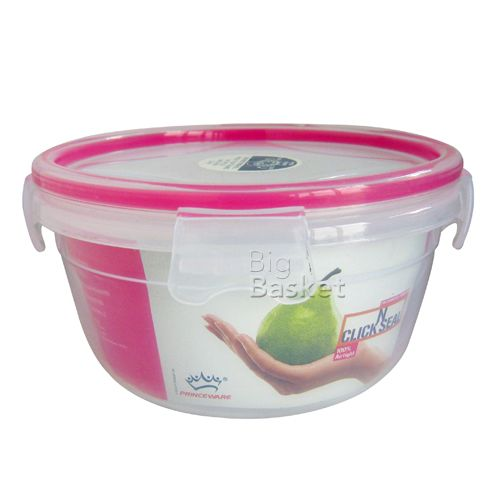 Princeware Click N Seal Round Packing Microwaveable Plastic Container - L5965-VL, 1.71 lt