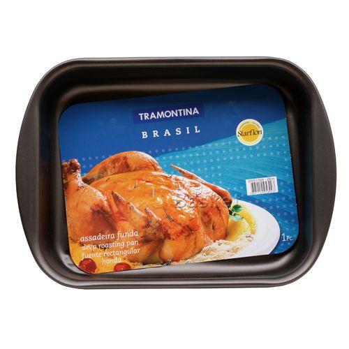 Tramontina Flat Roast Pan - Non Stick, 22 cm