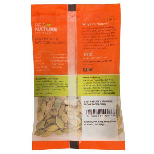 Pro Nature Organic - Cardamom, 10 gm Pouch