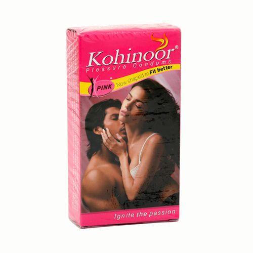 Kohinoor Condoms - Pleasure Pink, 10 pcs Carton