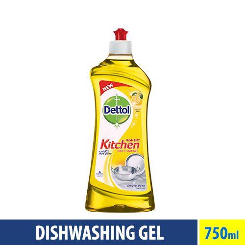 Dettol Kitchen Dish And Slab Gel Lemon Fresh 750 Ml