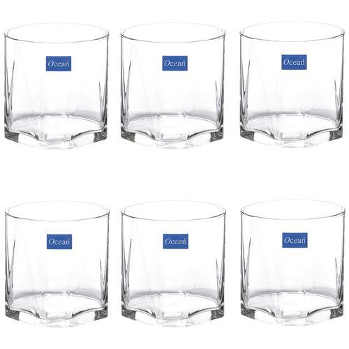 Ocean Ocean Whisky Glass - Rock Pyramid, 370 ml Pack of 6
