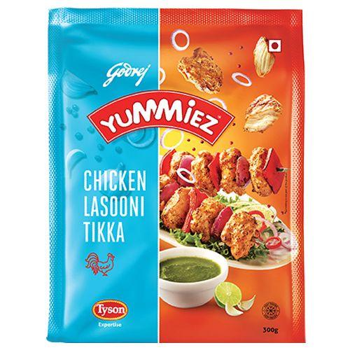 Yummiez Lasooni Tikka - Chicken, 300 g Pouch