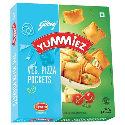 Yummiez Pizza Pockets - Veg, 340 gm