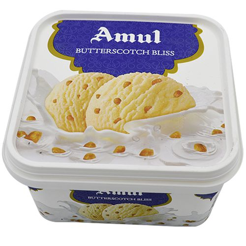 amul real ice cream butterscotch bliss 1 lt tub buy