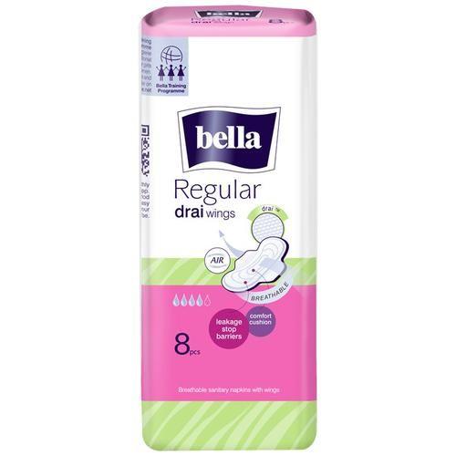 Bella Drai Wings Classic Sanitary Napkins - Regular, 8 pcs