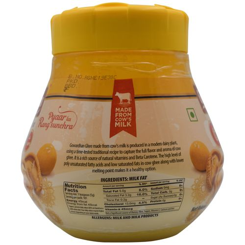 Gowardhan Ghee, 1 L Bottle