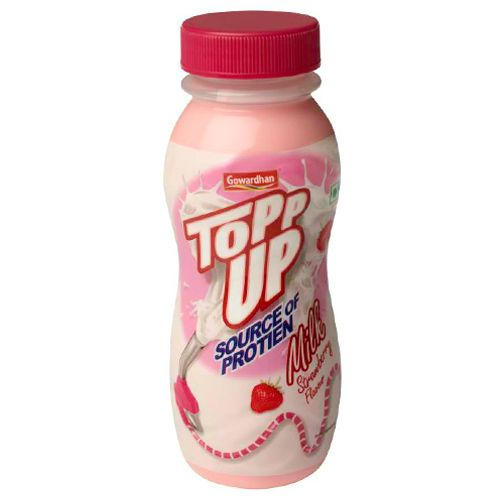 Gowardhan Topp Up Milk - Strawberry, 200 ml Bottle