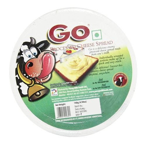 Go  Cheese Wedges - 4 Varieties, 140 g Tub