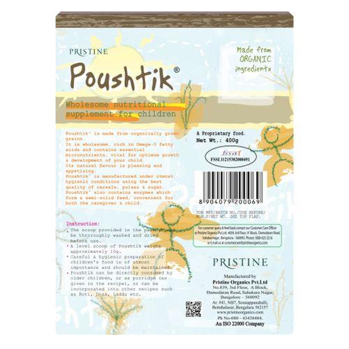 Poushtik Foods Wholesome Nutritional Supplement - For Children, 400 gm Carton