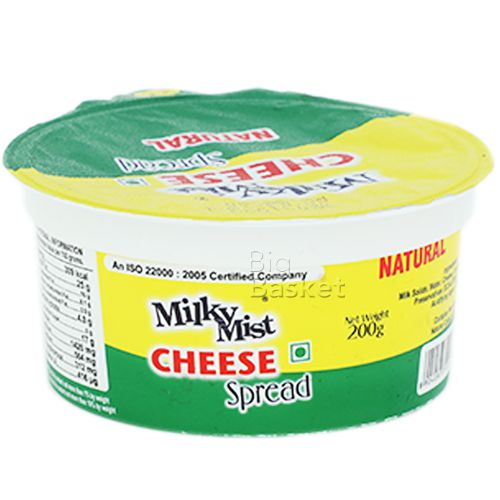 Milky Mist Premium Cheese Spread - Natural, 200 gm Cup