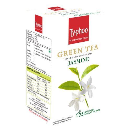 Typhoo Green Tea - Jasmine, 25 pcs Carton