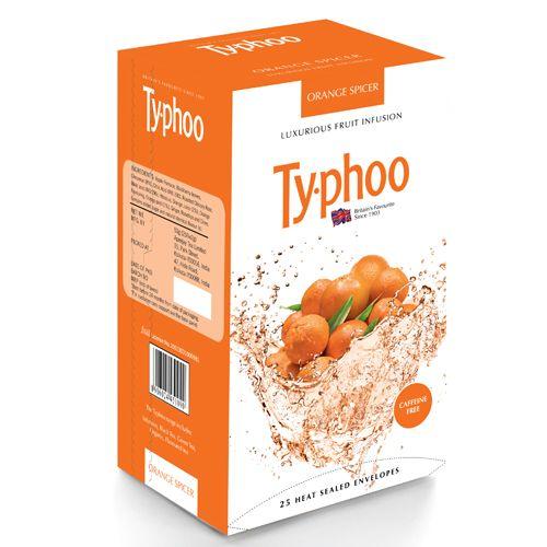 Typhoo Green Tea - Fruit Infusion, Orange Spicer, 25 pcs Carton