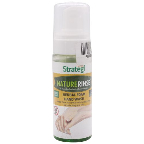 Herbal Strategi Naturerinse - Herbal Foam Handwash, 150 ml Bottle