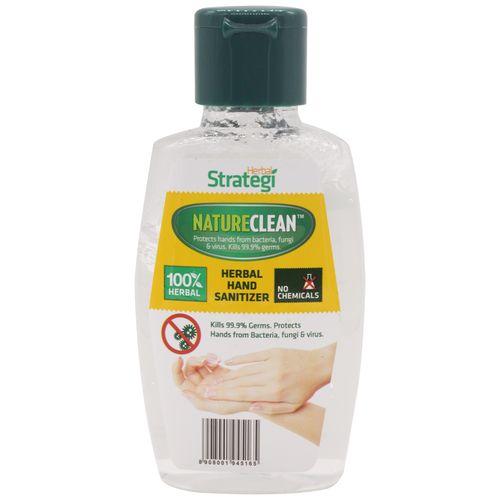 Herbal Strategi Natureclean - Herbal Hand Sanitizer, 100 ml Bottle