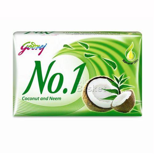Godrej No 1 Bathing Soap - Coconut & Neem, 100g Buy 3 Get 1 Free