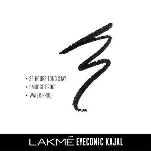 Lakme Eyeconic Kajal, Black, 0.35 g Twist Up Pencil
