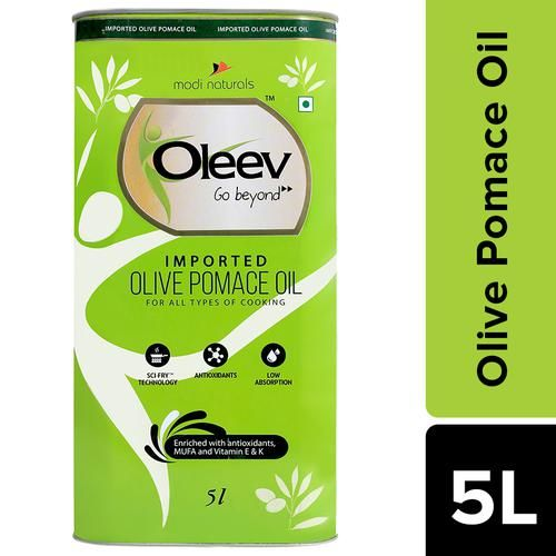 Oleev Pomace Olive Oil - For All Types Of Cooking, 5 L
