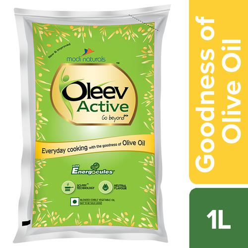 Oleev Active - Goodness Of Olive Oil, 1L Pouch