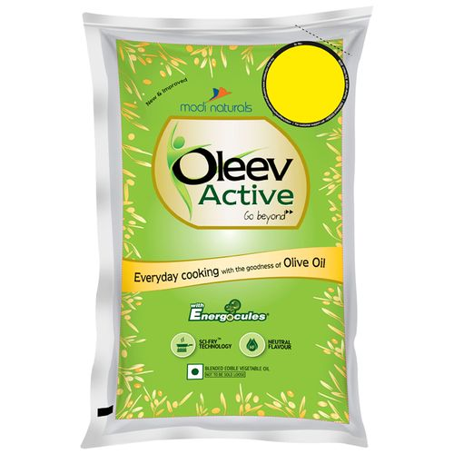 Oleev Active - Goodness Of Olive Oil, 1 ltr Pouch