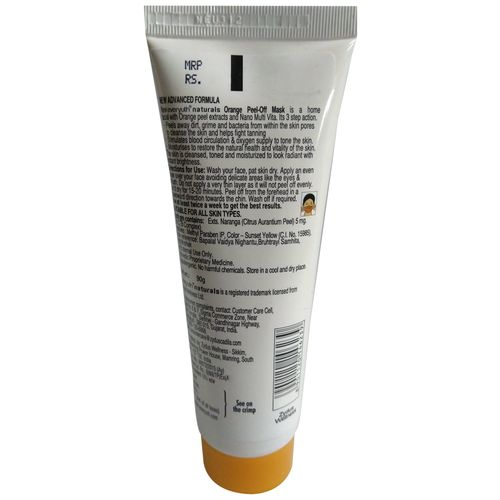 Everyuth Naturals Orange Peel-Off Mask With Nano Multi Vitamin-A, 90 gm