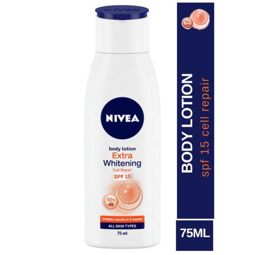 Nivea Extra Whitening Cell Repair Body Lotion - SPF 15, 75 ml