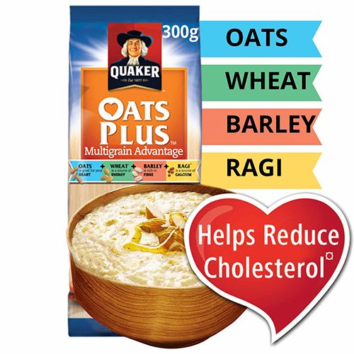 Quaker Oats Plus - Multigrain Advantage, 300 gm Pouch