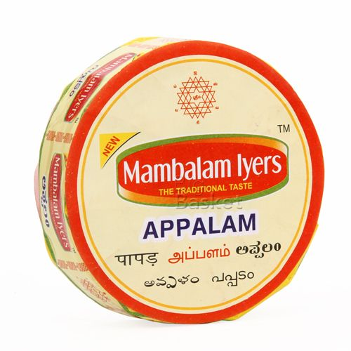 Mambalam Iyers Appalam - Size No 4, 200 g Pouch