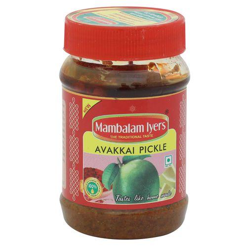 Mambalam Iyers Pickle - Avakkai, 200 g Bottle