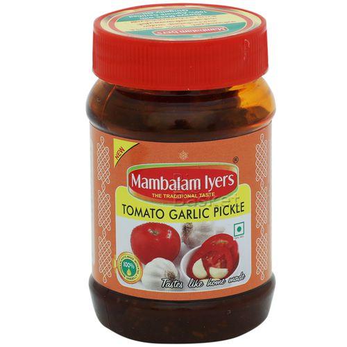 Mambalam Iyers Pickle - Tomato Garlic, 200 gm Bottle