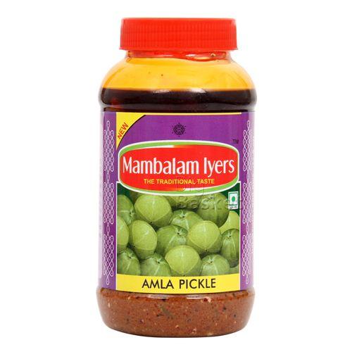 Mambalam Iyers Pickle - Amla, 500 gm Bottle