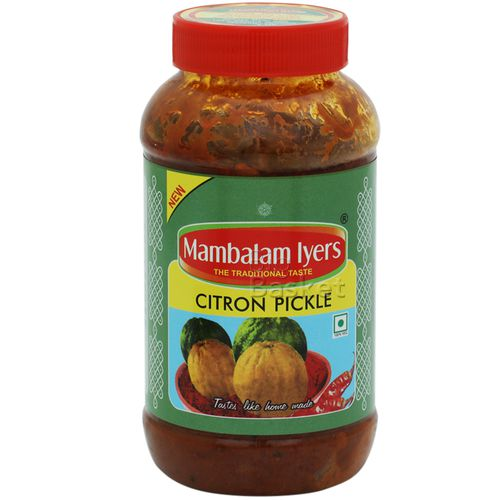 Mambalam Iyers Pickle - Citron, 500 gm Bottle