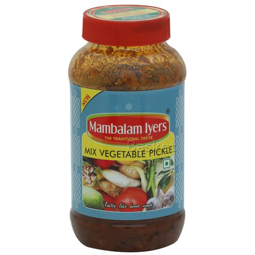 Mambalam Iyers Pickle - Mix Vegetable, 500 gm Bottle