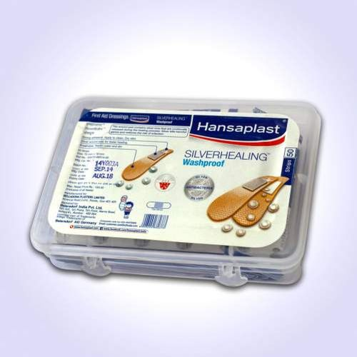 Hansaplast Silver Healing - Woundcare Plaster/ bandage, 50 pcs