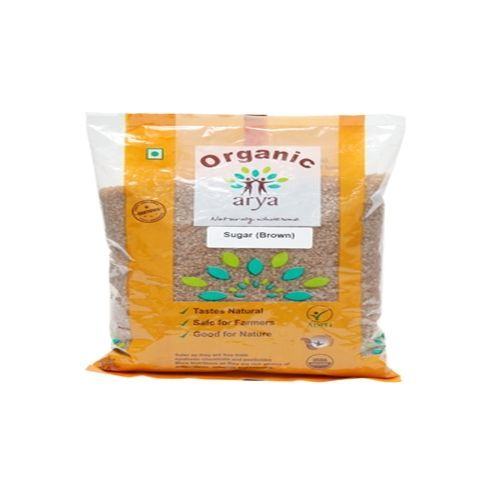 Arya Organic Sugar (Brown), 500 g Pouch