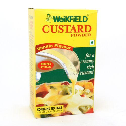 Weikfield Custard Powder - Vanilla Flavour, 500 g Carton