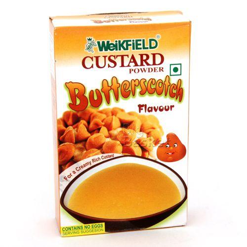 Weikfield Custard Powder - Butterscotch Flavor, 75 gm Carton