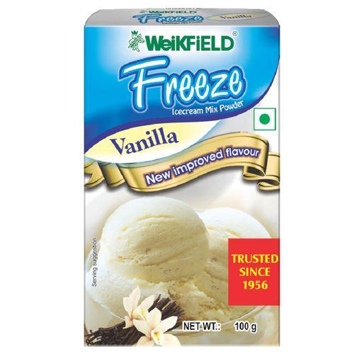 Weikfield Freeze Icecream Mix Powder - Vanilla, 100 g Carton