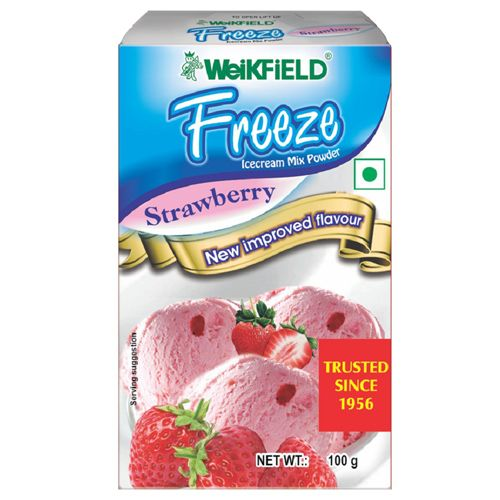 Weikfield Freeze Icecream Mix Powder - Strawberry, 100 g Carton