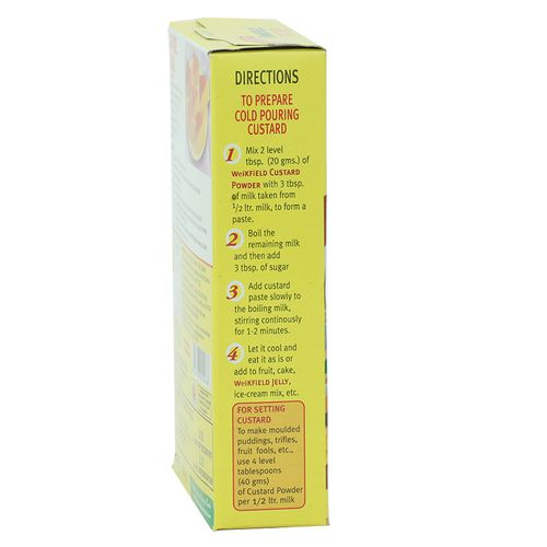 Weikfield Custard Powder Vanilla, 100 g Carton