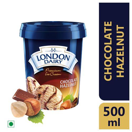 London Dairy Ice Cream - Chocolate Hazelnut, Family Pack, 500 ml Tub